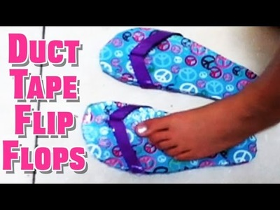 Homemade Duct Tape Flip Flops (Rubber Sole)