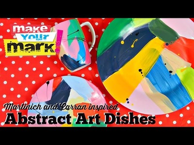 How to: Abstract Art Dishes