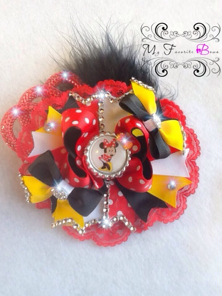 How to add lace to you hair bow without sewing beautiful and easy, by My Favorite Bows