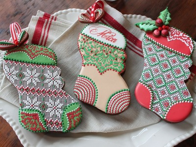 How to Assemble 3-D Stuff-able Christmas Stocking Cookies