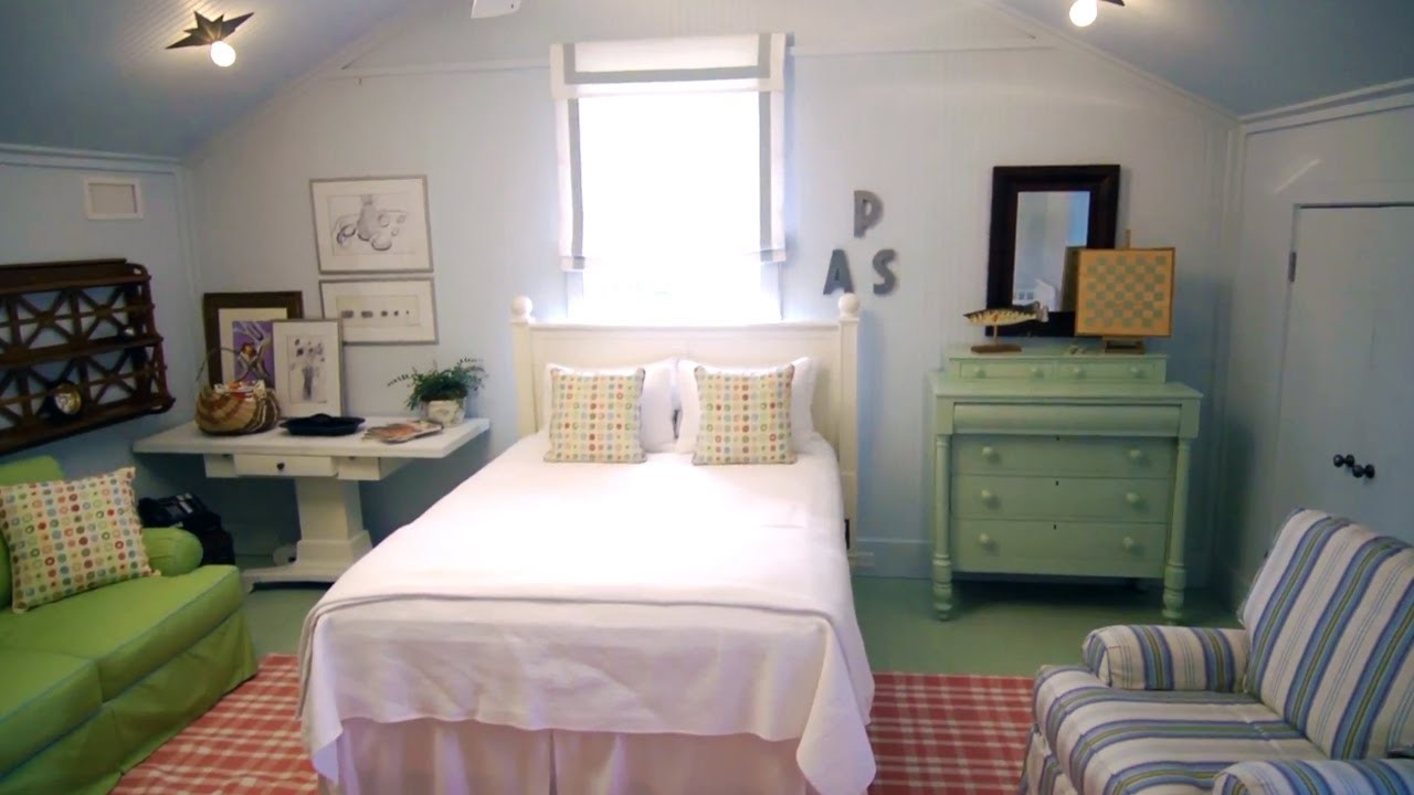 How to Furnish an Attic Bedroom | At Home With P. Allen Smith