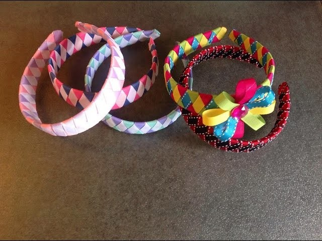 HOW TO: Make a Diamond Style woven headband out of ribbon
