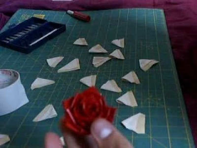 How to make a duck tape flower