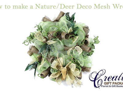 How to make a Nature.Hunting Deco Mesh Wreath!