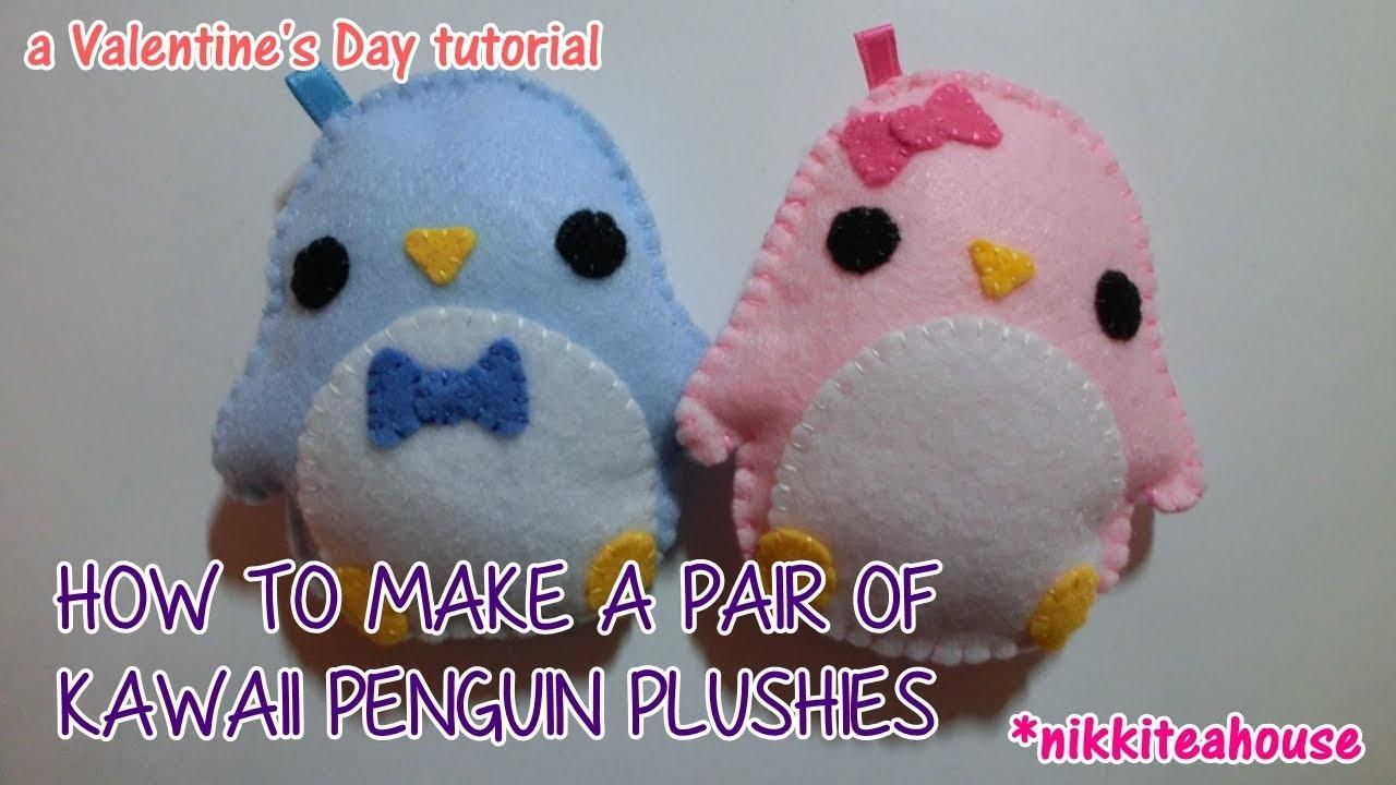 How to Make a Pair of Kawaii Penguin Plushies