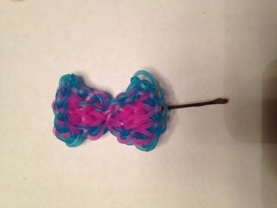 How to make a rainbow loom hair bow by hand