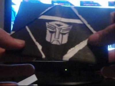 How To Make A Slim Paper Wallet My Custom TRANSFORMER Version