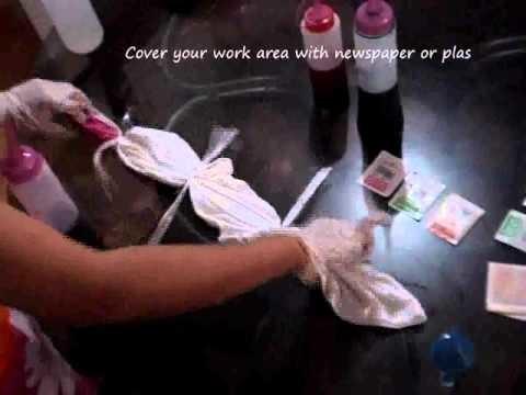 How To Make a Tie Dye Diagonal Stripe Pattern