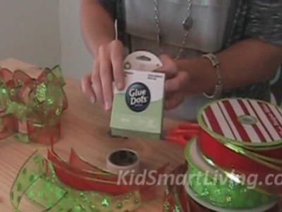 How to Make Christmas Tree Garlands Using Holiday Ribbon