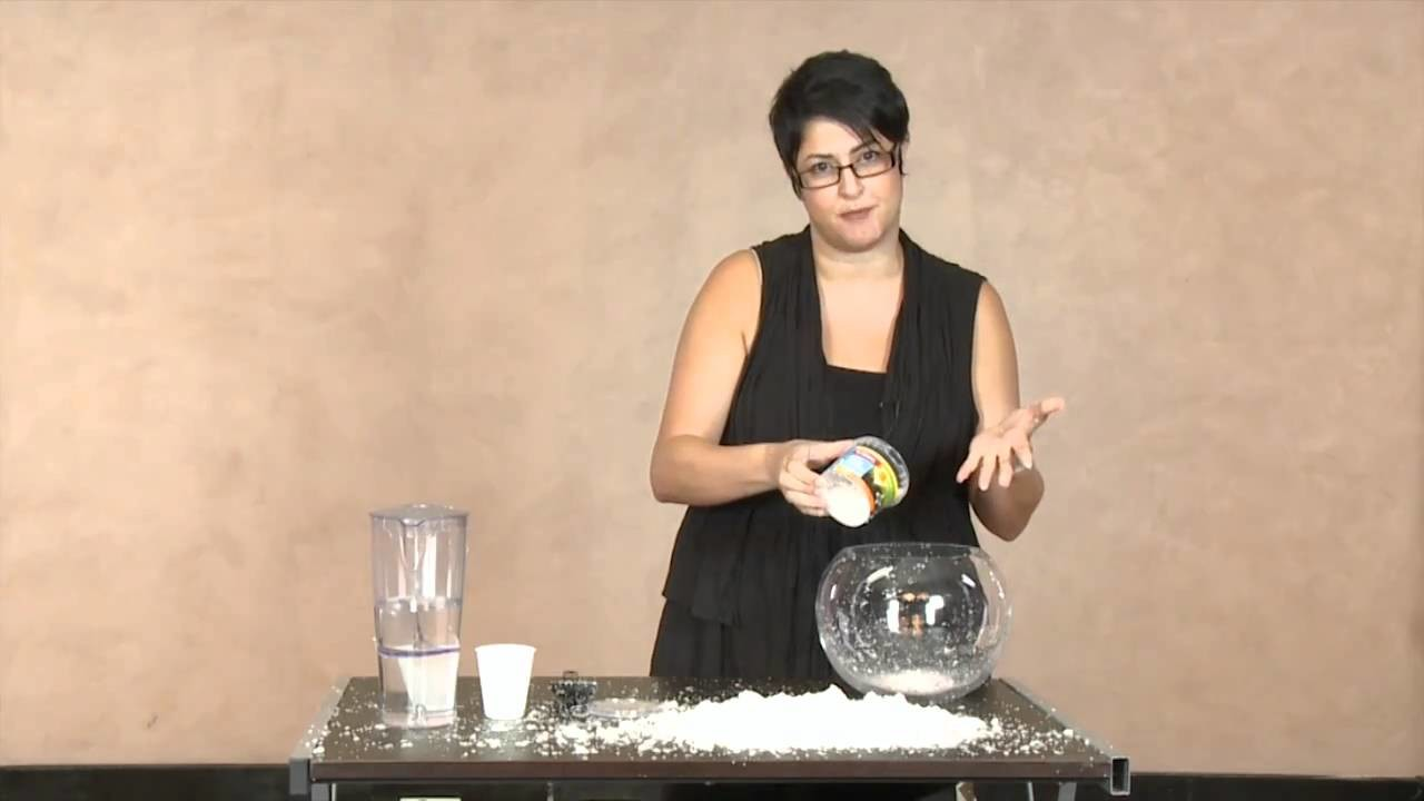How to make fake snow - from The Theatre Show presented by Mujde Wilson