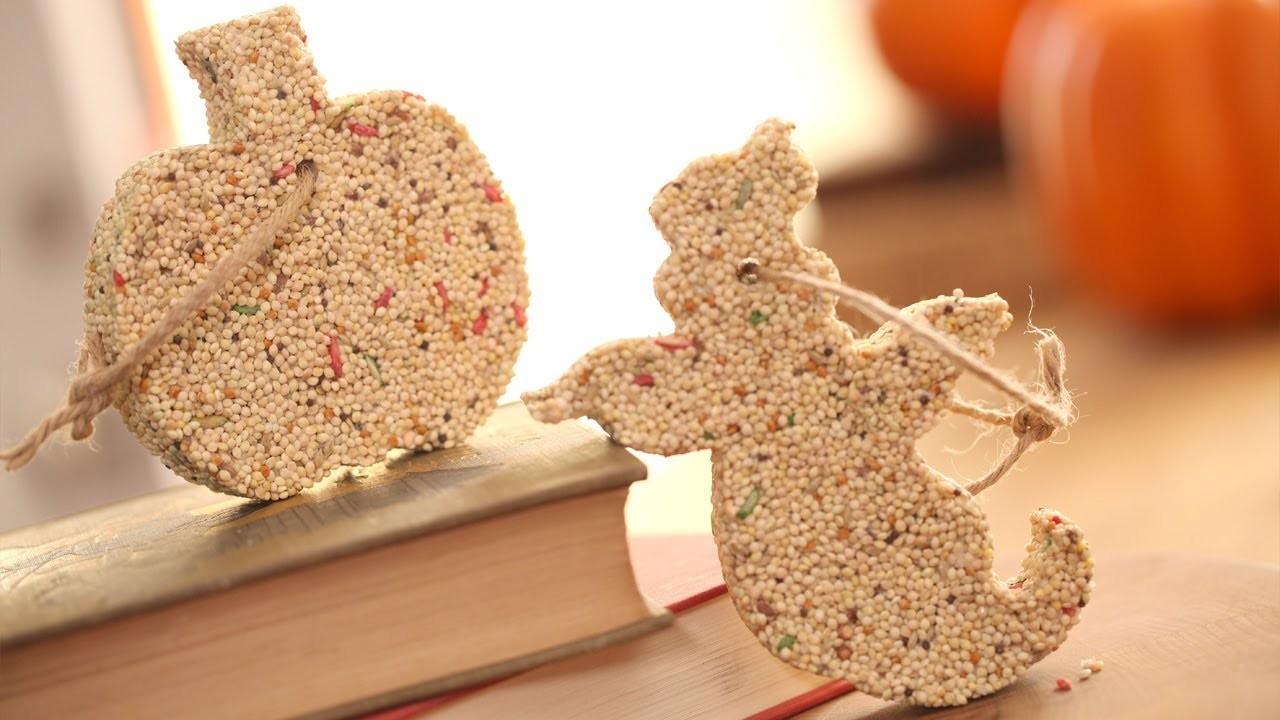 How to Make Halloween Birdseed Ornaments    KIN PARENTS