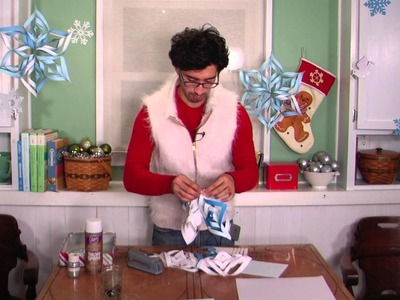 How to Make Hanging Paper Snowflakes