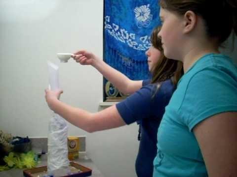 How to make paper mache volcano part 2