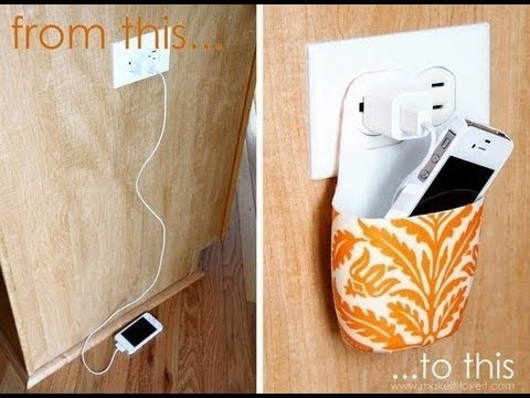 How to make Phone Holder for Charger Simple and Easy