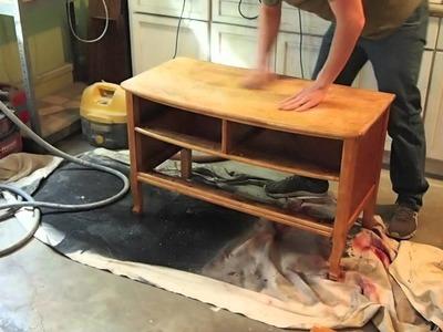 How To Refinish A Dresser - Birds Eye Maple Garage Sale Find
