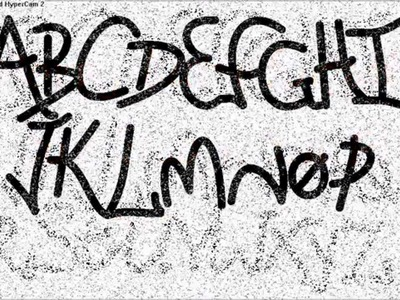 [Howto] Draw All Graffiti Letters In Ms Paint *HD*