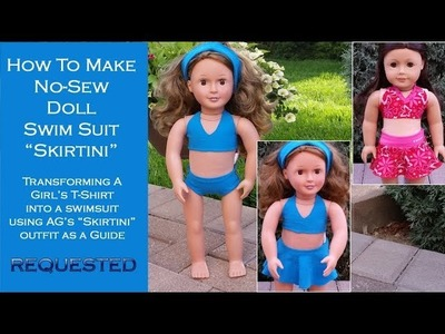 HTM AG Doll No Sew: Swimsuit Skirtini for 18-inch dolls