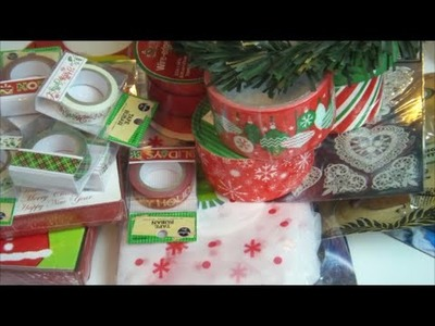 HUGE Dollar Tree Christmas Haul | October 2014