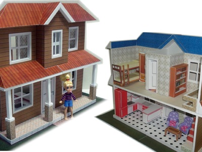 Make your own Polly Dollhouse paper model