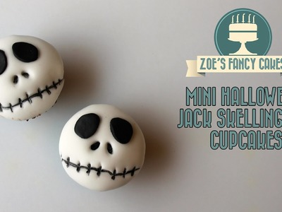 Mini Halloween Jack Skellington cupcakes How To Cake Tutorial