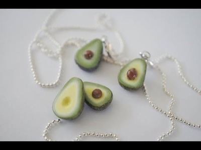 Miniature Avocado Tutorial, Miniature Food Polymer clay