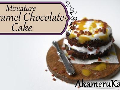 Miniature Caramel Chocolate Cake - Polymer Clay Tutorial