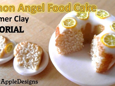 Miniature Polymer Clay Lemon Angel Food Cake Tutorial