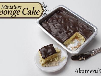 Miniature Sponge Cake - Polymer Clay Tutorial