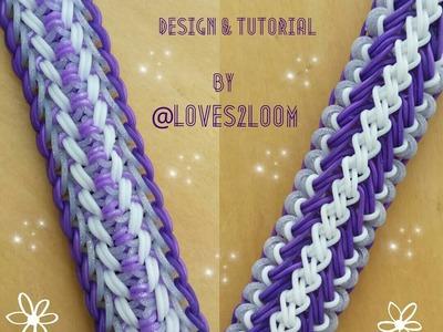 """My New """"Double Jeopardy"""" Rainbow Loom Bracelet.How To Tutorial"""