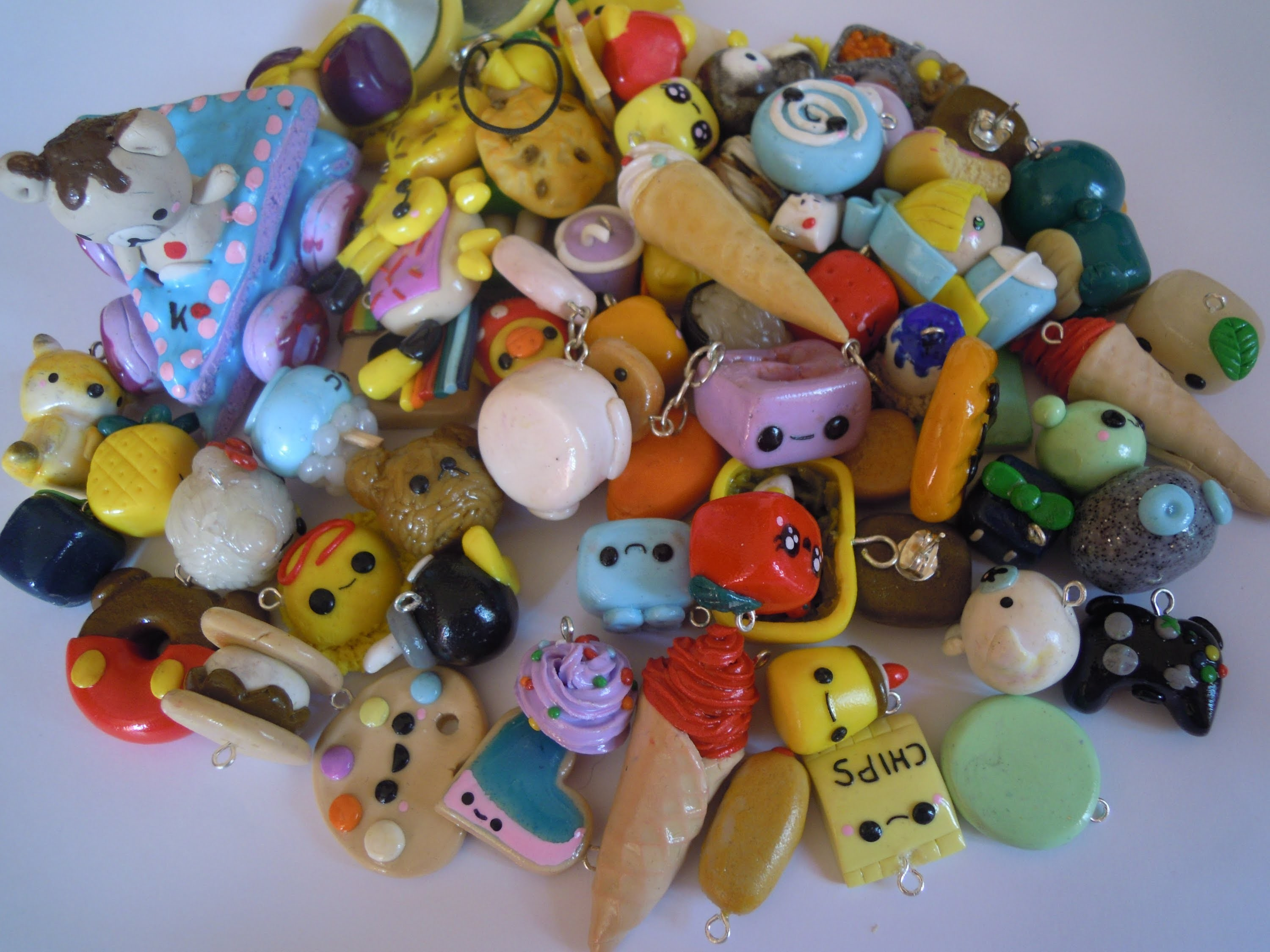 My Polymer Clay Charm Collection !