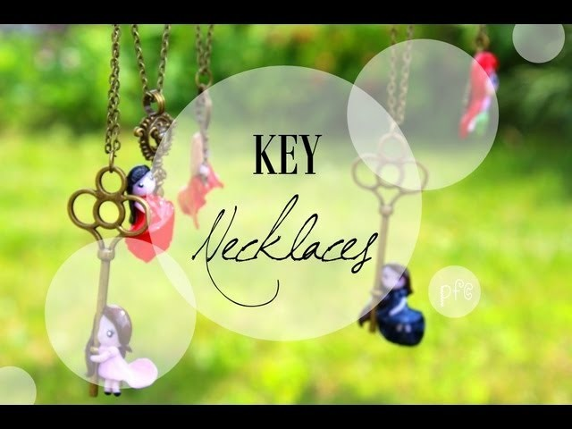 Necklaces: Chibis and Keys {Polymer Clay Charm Update}