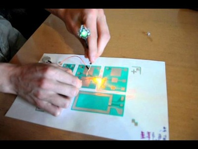 PCB made by screen printing on paper | TIV z sitotskom