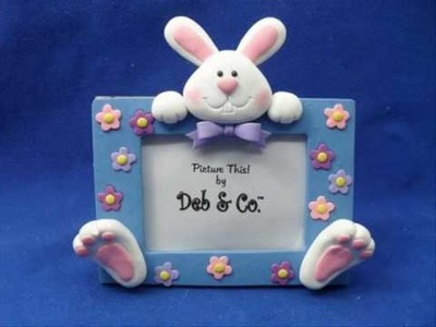Polymer clay Easter bunny bunnies rabbit