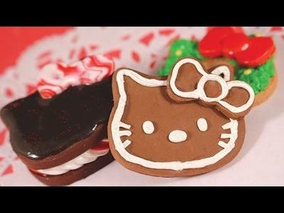 [POLYMER CLAY] HELLO KITTY CHRISTMAS COOKIES