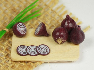 Polymer clay Red Onion TUTORIAL