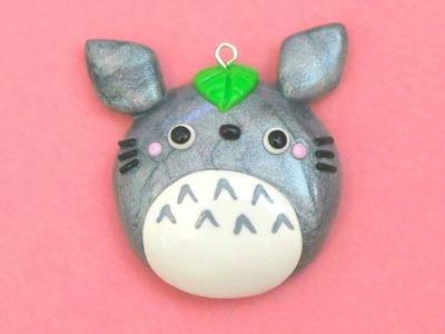 Polymer Clay Totoro Mirror Charm Tutorial