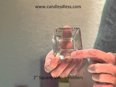 Square Votive Candle Holders