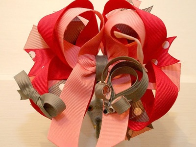 ~Stacked hairbow DESIGN IDEA~ Mouse inspired hairbow tutorial
