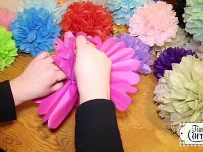 TamsCorner Pompom Fluffing Instructions,Pompoms,Party Poms,Tissue Paper Pom Poms,Wedding Pompoms