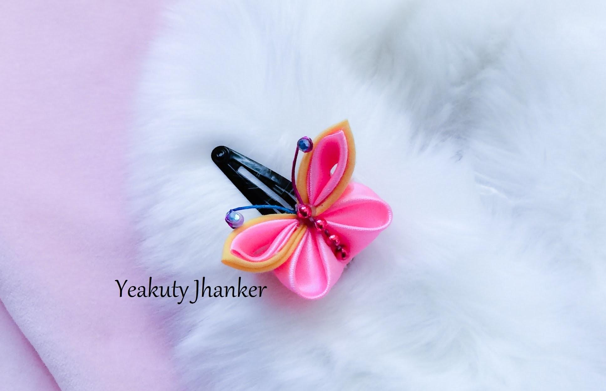 Tsumami Kanzashi- butterfly