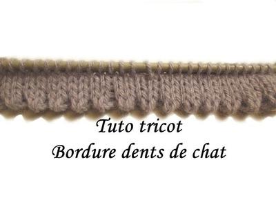 TUTO TRICOT BORDURE OURLET DENTS DE CHAT AU TRICOT FACILE