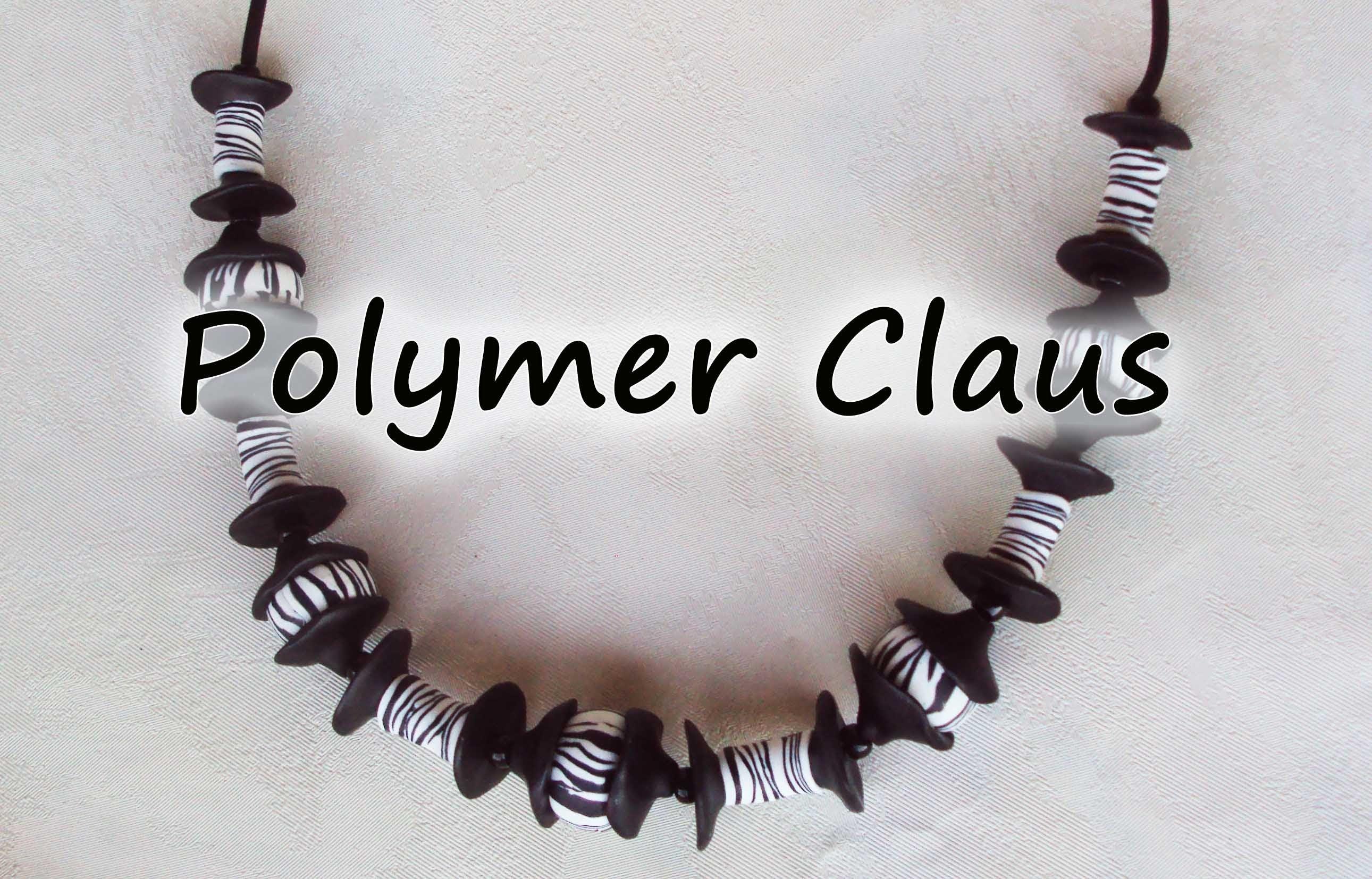 Tutorial Collana Zebrata (polymer clay tutorial)