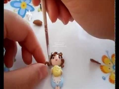 Tutorial facile doll in fimo (tutorial polymer clay)