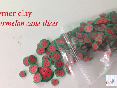 Watermelon cane.cane slices! (Polymer clay tutorial)