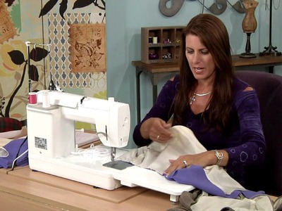 607-2 Angela Wolf has a Little Black Dress lesson on how to use lining as facing on It's Sew Easy