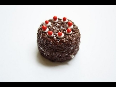 Black forest cake from Portal Polymer clay charm tutorial
