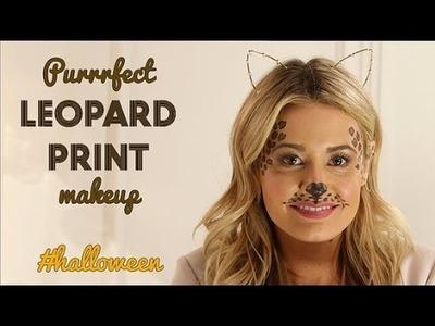 DIY Beauty | Leopard Print Makeup Halloween Makeup Tutorial
