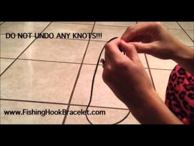 Fishing Hook Bracelet How To
