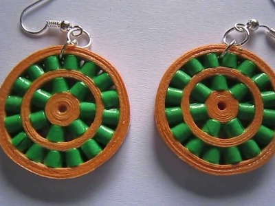 Handmade Jewelry - Paper Quilling Double Wheel Earrings (Not Tutorial)