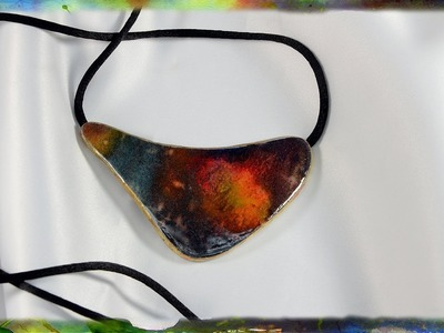 How To Construct The Watercolor Paper Jewelry Pendant, Video 3